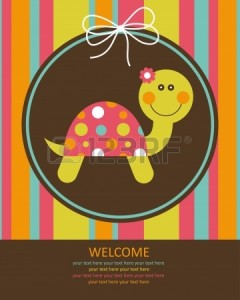 22590598-cute-baby-card-with-nice-turtle-vector-illustration