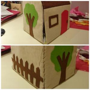 Fabric dollhouse detalles