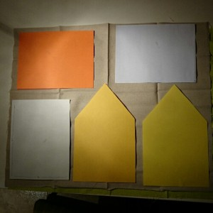 Fabric dollhouse piezas en tela