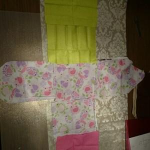 Fabric dollhouse piezas internas