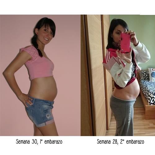 Evolución de la barriga en el embarazo mes a mes
