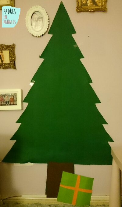 Fieltro para hacer arbol de navidad