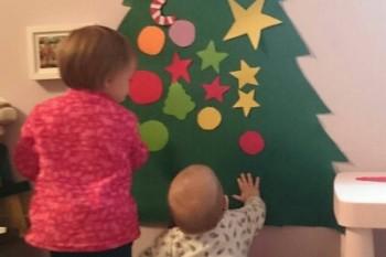 Como hacer un árbol de Navidad de fieltro DIY