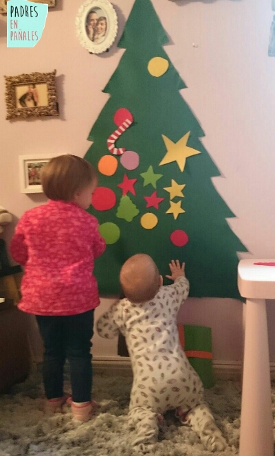 Como hacer un arbol de navidad de fieltro - Arbol de navidad de fieltro ...