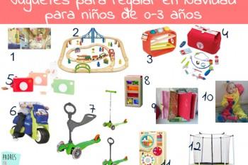 21 Ideas de regalos para niños de 0-3 años