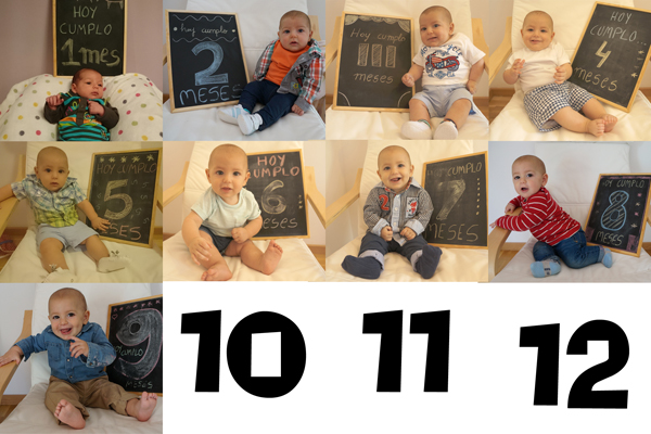 Evoluci n del beb fotos mes a mes for En 8 dias cumplo anos