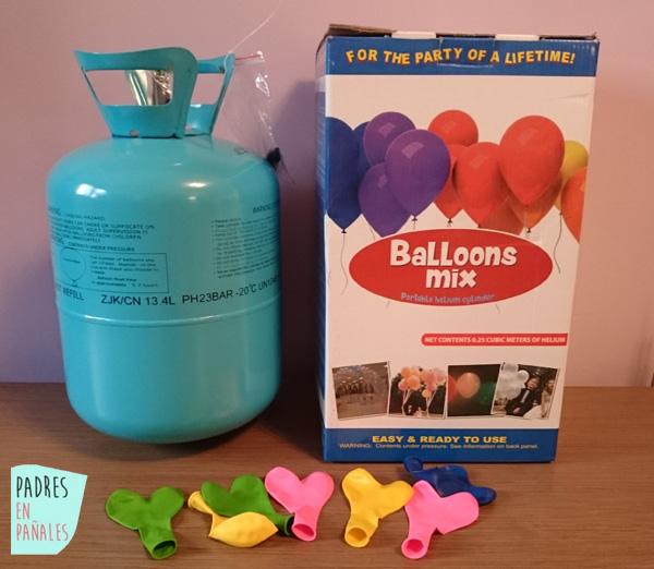 Para los cumplea os globos de helio padres en pa ales - Donde conseguir helio para inflar globos ...