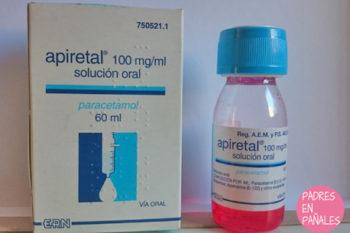 Apiretal: paracetamol infantil, dosis según edad y kilos del niño