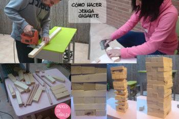 Como hacer un Jenga Gigante: piezas y medidas