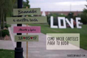 Cómo hacer carteles para tu boda de madera: personalizados, divertidos y originales