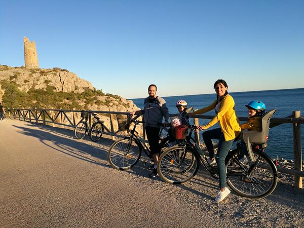 Excursión En Familia En Bicicleta Vía Verde Oropesa Benicassim