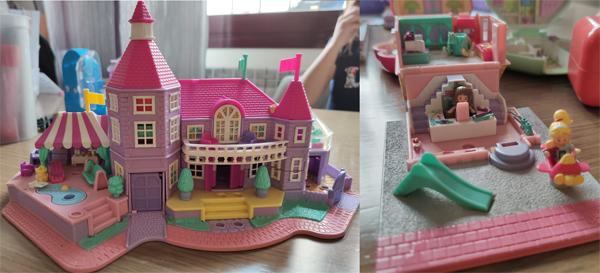 Mansión y tienda de juguetes de Polly Pocket de los 90